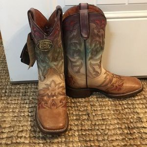 Western square toe boots